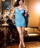 Blå Klänning Plusstorlek